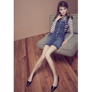7 For All Mankind Denim Button Front Overall Dress